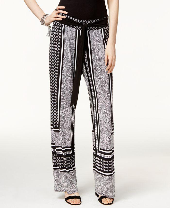 INC International Concepts - Petite Printed Soft Pants