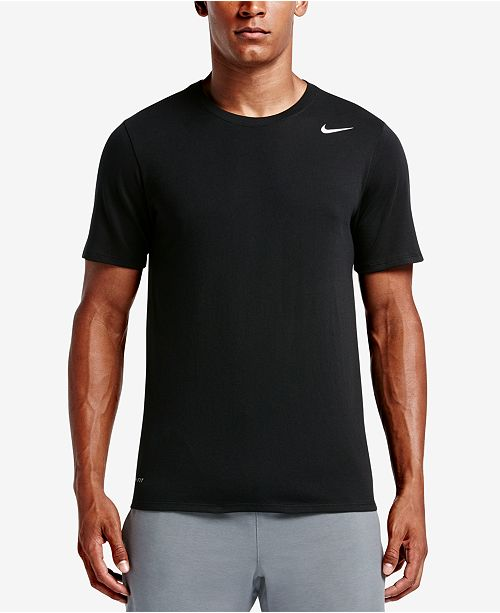 Nike Men's Dri-Fit Cotton Crew Neck T-Shirt & Reviews - T ...