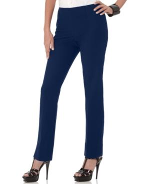 Ellen Tracy Pants, Slim Leg Side Zip