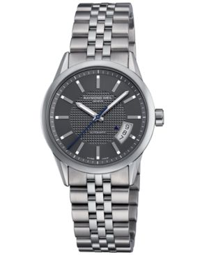 Raymond Weil Watch, Men's Automatic Freelancer Stainless Steel Bracelet 2770-ST-60001