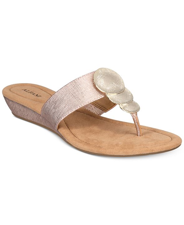 Alfani Women's Fleurr Wedge Sandals, Created for Macy's