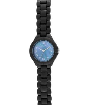 Sprout Watch, Eco Friendly Black Corn Resin Bracelet ST-4008JMBK