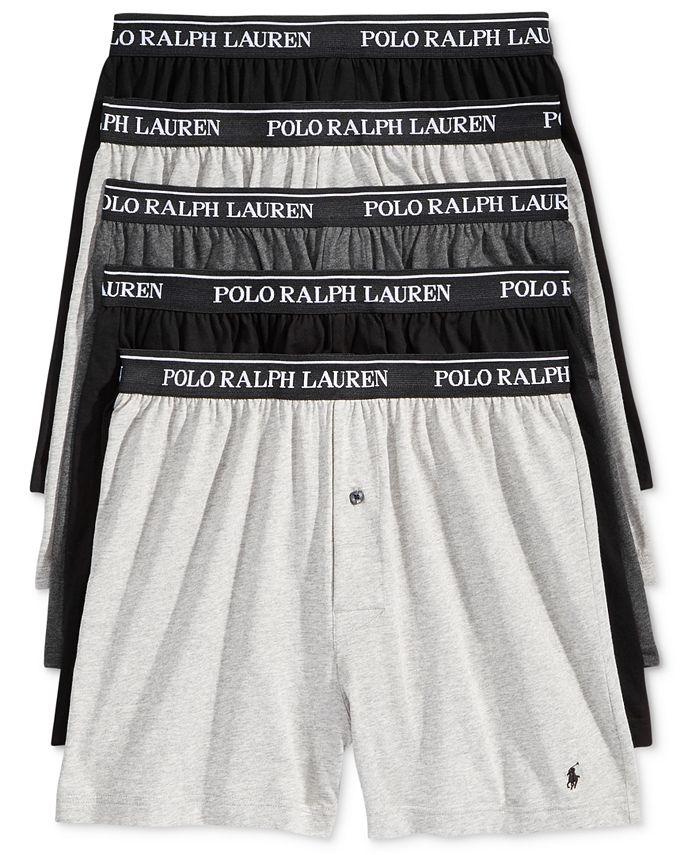 Polo Ralph Lauren - Men's 5-Pk. Classic Knit Boxer Briefs