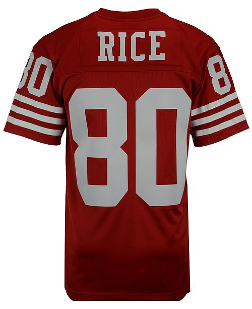 Mitchell Ness Men S Jerry Rice San Francisco 49ers Replica Throwback Jersey Reviews Sports Fan Shop By Lids Men Macy S
