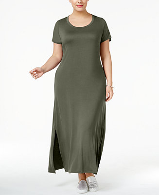 Style & Co Plus Size T-Shirt Maxi Dress, Created for Macy's & Reviews - Dresses - Plus Sizes - Macy's