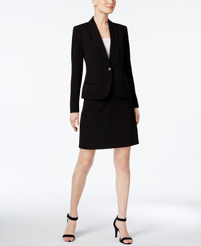 Anne Klein - Single-Button A-line Skirt Suit