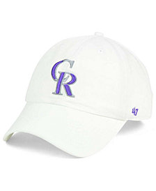 '47 Brand Colorado Rockies White Clean Up Cap