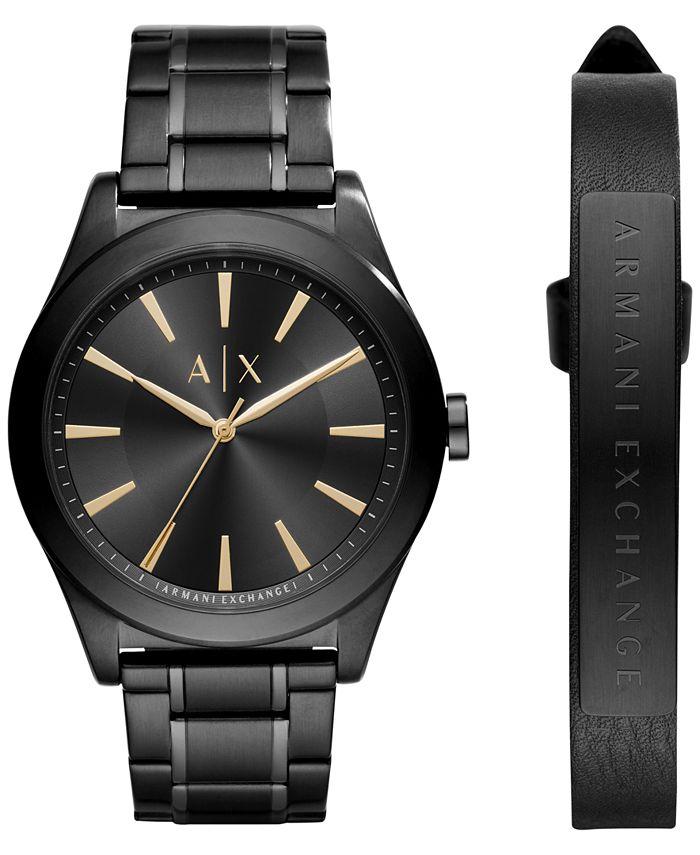A|X Armani Exchange - Men's Stainless Steel Bracelet Watch 44mm X7102 Gift Set