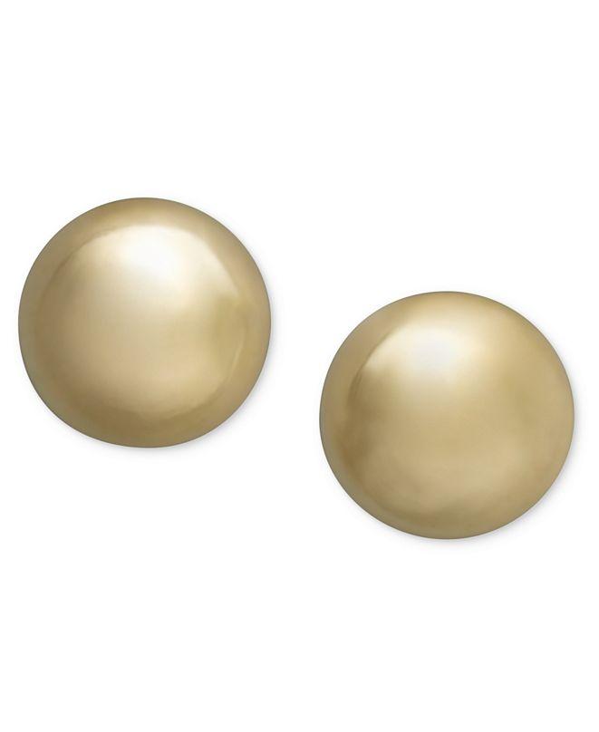Giani Bernini 18K Gold over Sterling Silver Earrings, Ball Stud Earrings