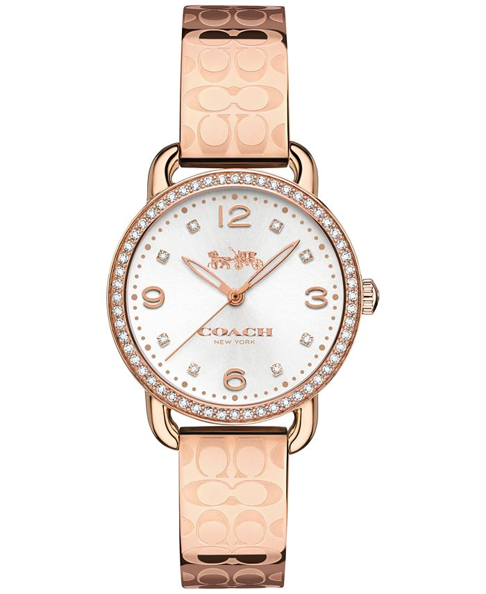 COACH - Women's Delancey Rose Gold-Tone Bracelet Watch 28mm 14502767