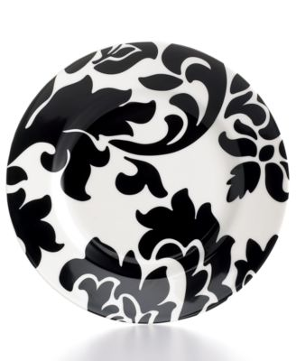 Martha Stewart Collection Lisbon Black Salad Plate