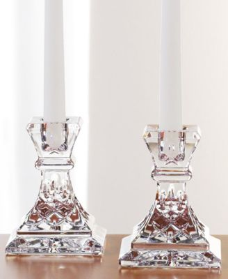 "Waterford Gifts, Lismore Candle Holders 4"", Set of 2"