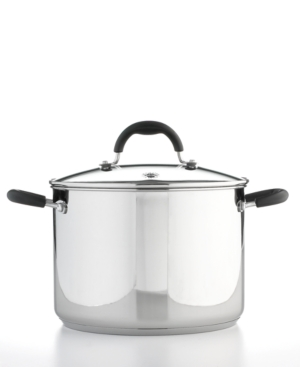 Martha Stewart Collection Stock Pot, 8 Qt. Stainless Steel