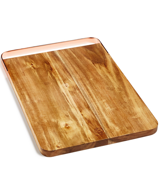 Martha Stewart Collection Copper-Handle Acacia Cutting Board