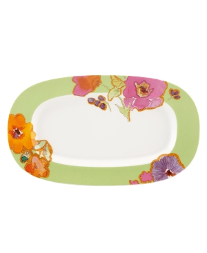 Lenox Dinnerware, Floral Fusion Kiwi Hors D'Oeuvre Tray