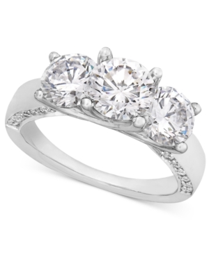Diamond Ring, 18k White Gold Diamond Three Stone Engagement (3 ct. t.w.)