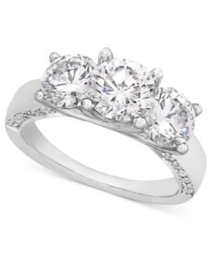 Diamond Ring, 18k White Gold Diamond Three Stone Engagement (3 ct. t.w.)