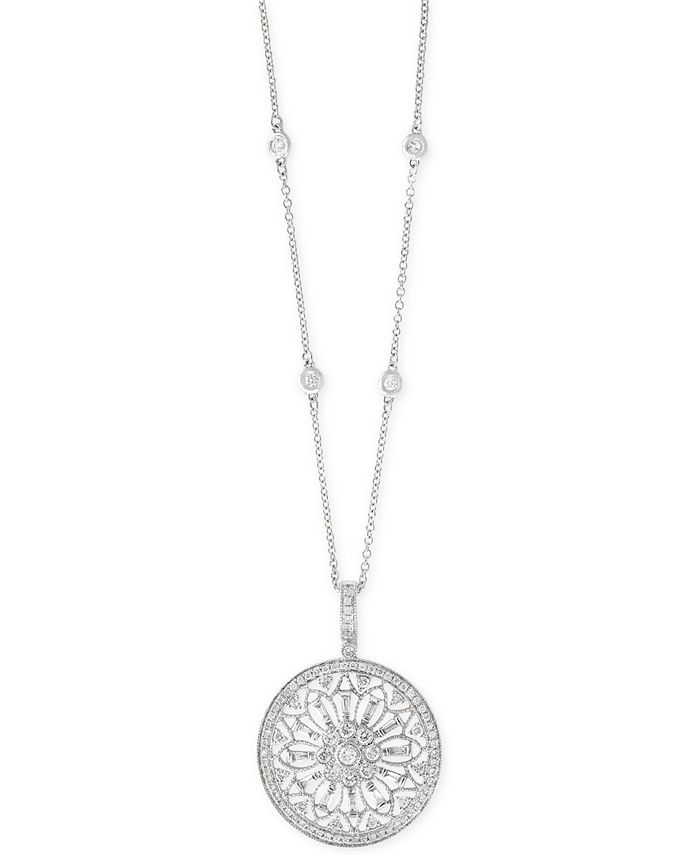 EFFY Collection - Diamond Filigree Pendant Necklace (1 ct. t.w.) in 14k Gold, White Gold or Rose Gold