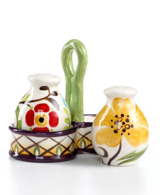CLOSEOUT! Vida by Espana Jardine Salt and Pepper Shakers