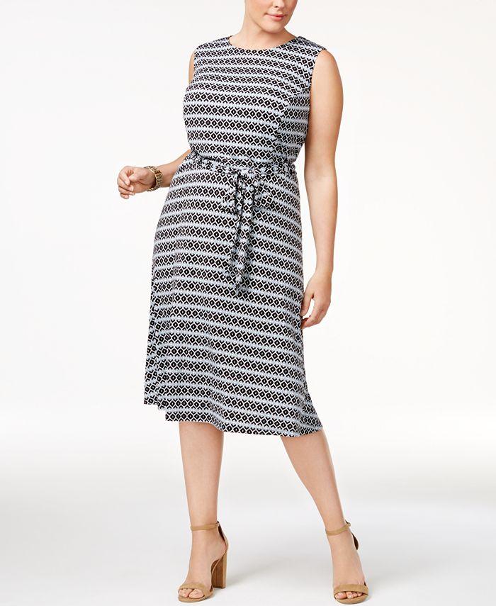 Charter Club - Plus Size Printed Dress