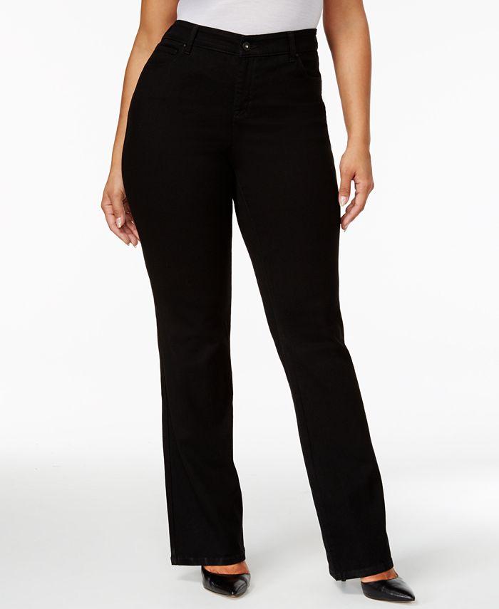 Style & Co - Plus Size Jeans, Tummy Control Bootcut, Noir Wash