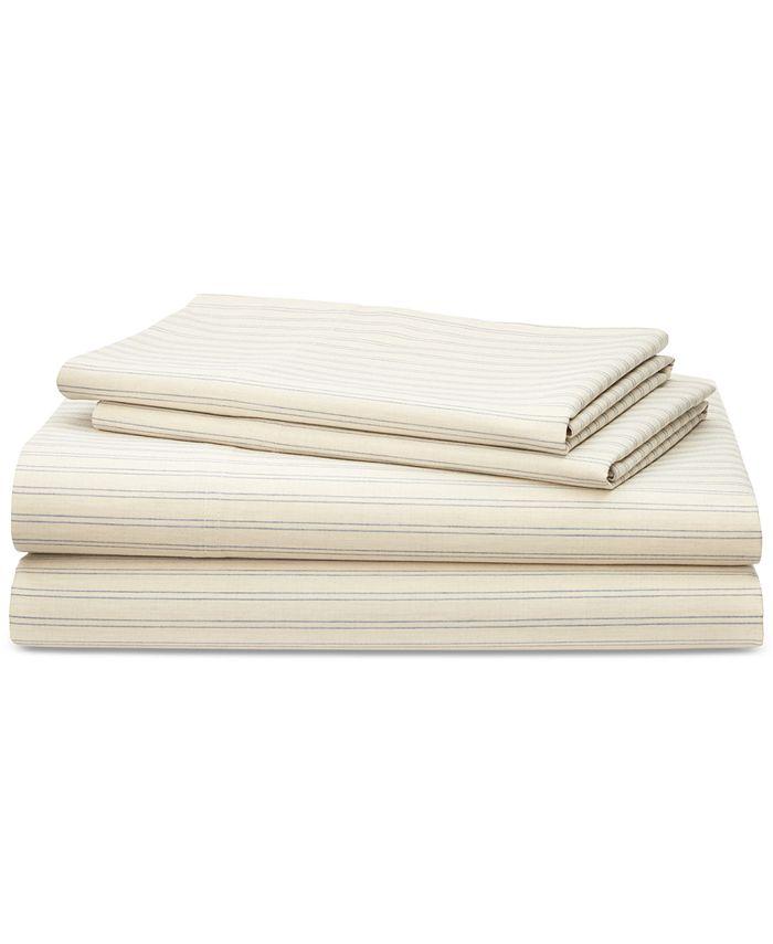 Lauren Ralph Lauren - Graydon Cotton 200-Thread Count 4-Pc. Shirting Stripe Twin Sheet Set