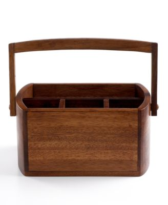 The Cellar Acacia Wood Flatware Caddy