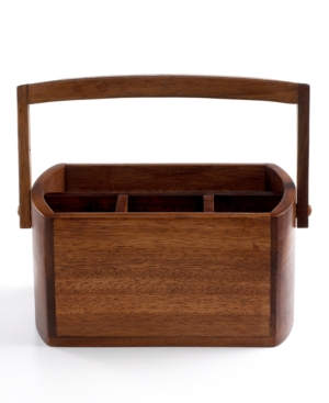The Cellar Flatware Caddy, Acacia Wood