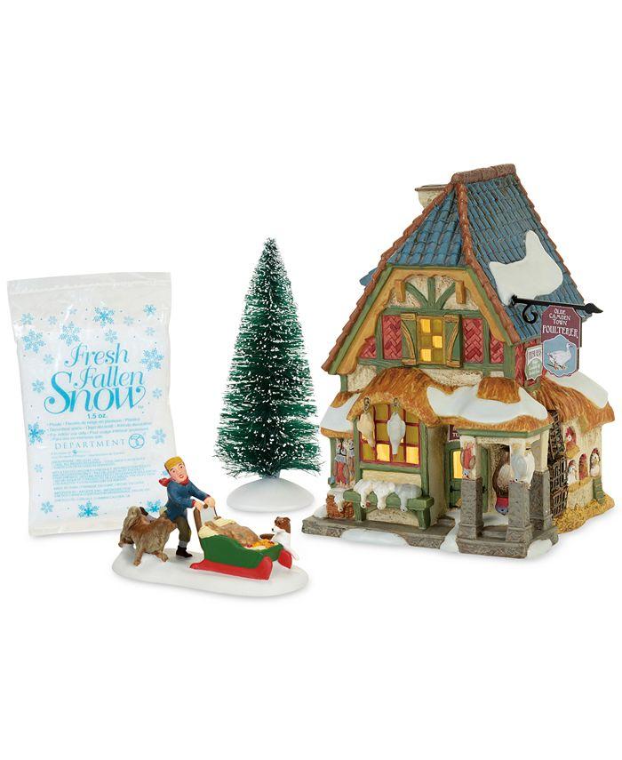 Department 56 - Dicken's Village Christmas Carol Poulterer's Shop