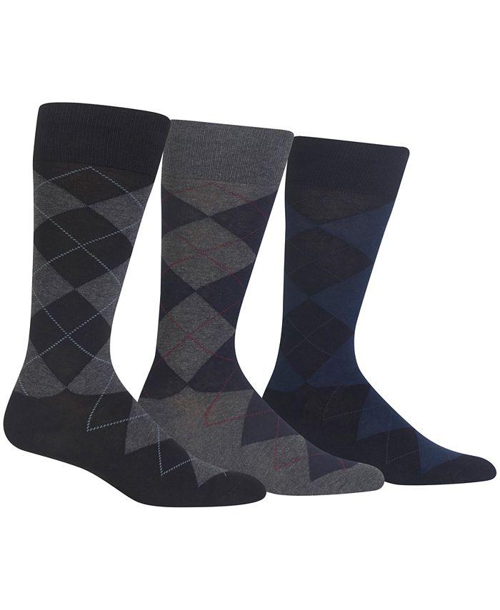 Polo Ralph Lauren - Socks, Extended Size Argyle Dress Socks 3 Pack