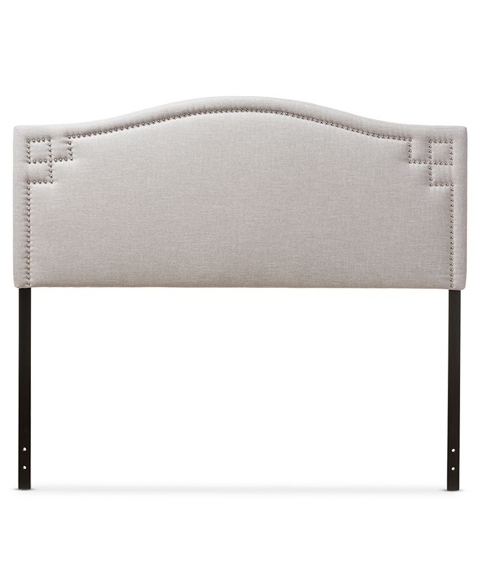 Furniture - Baxton Studio Aubrey Modern and Contemporary Fabric Upholstered King Size Headboard, Quick Ship