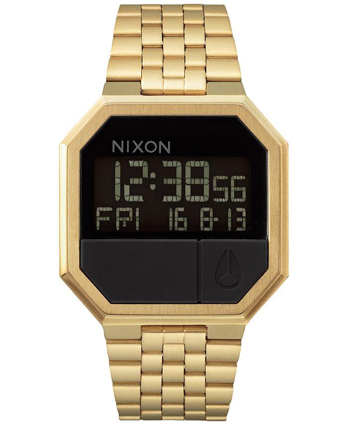 Nixon - Men's Re-Run Digital Stainless Steel Bracelet Watch 39mm A158-001-00