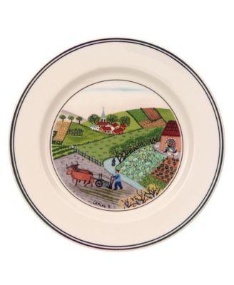 Villeroy & Boch Dinnerware, Design Naif Bread and Butter Plate Plowing