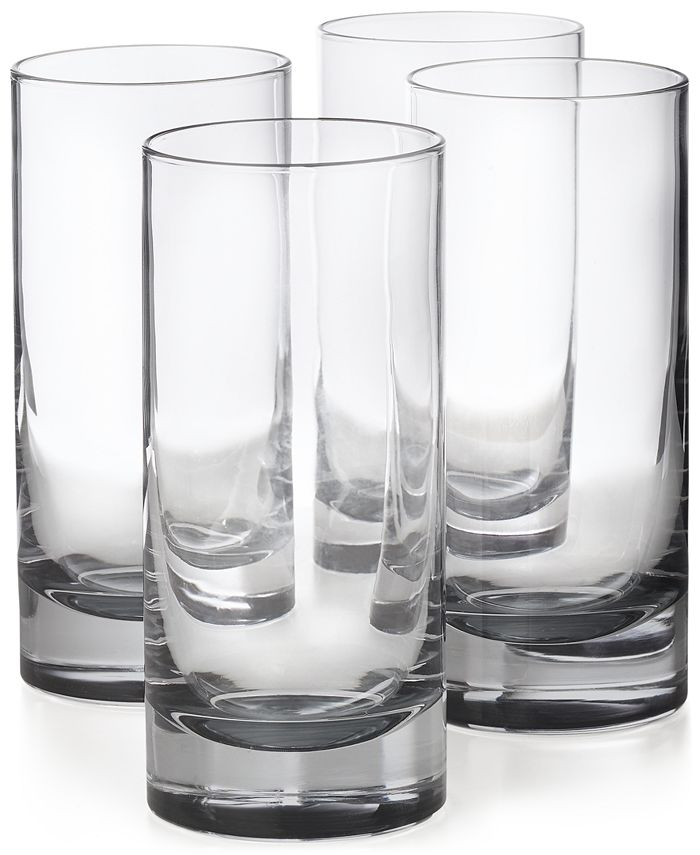 Hotel Collection - 4-Pc. Highball Glass Set with Gray Accents