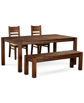 Furniture Avondale Large Dining 4 Pc Set 72 Dining Table 2 Side Chairs Bench Created For Macy S Reviews Furniture Macy S