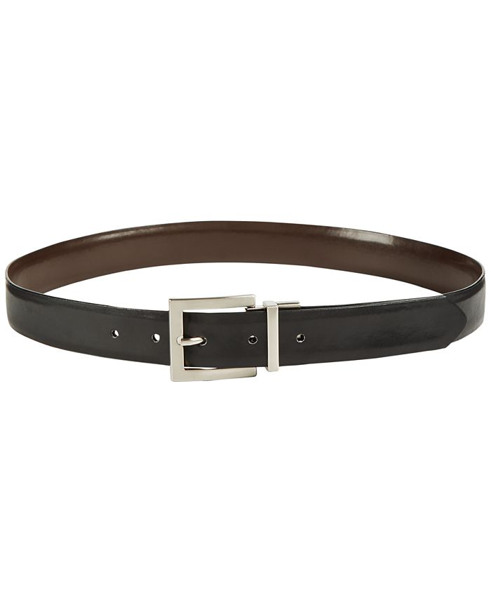 Calvin Klein - Reversible Pant Belt with Nickel Buckle Belt