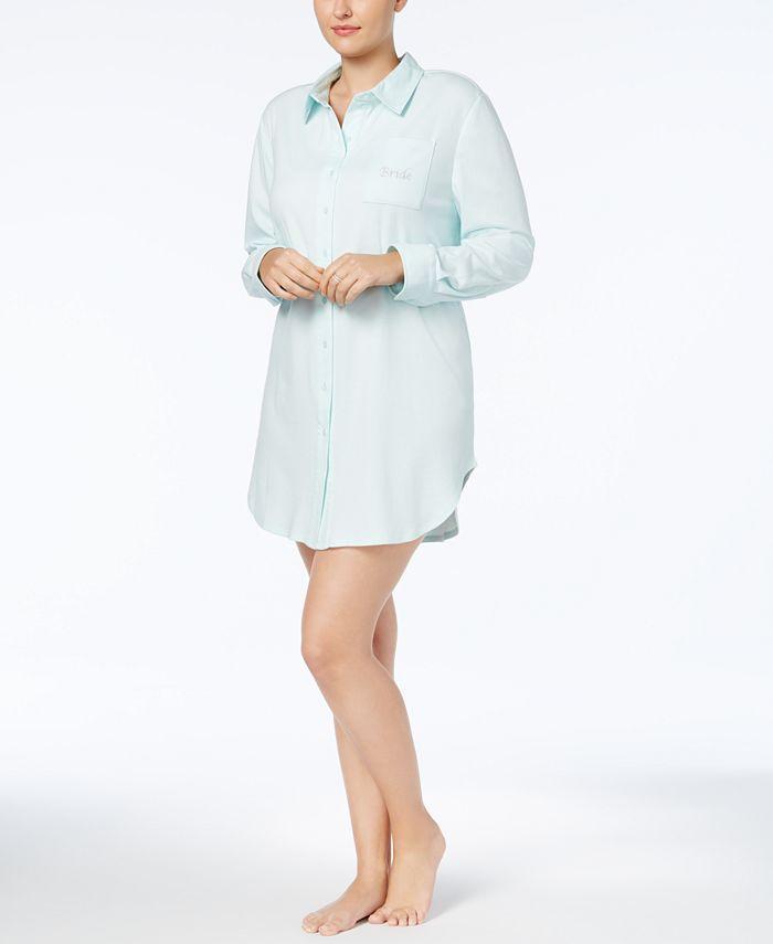 Flora by Flora Nikrooz - Plus Size Tulla Bride-Embroidered Sleepshirt