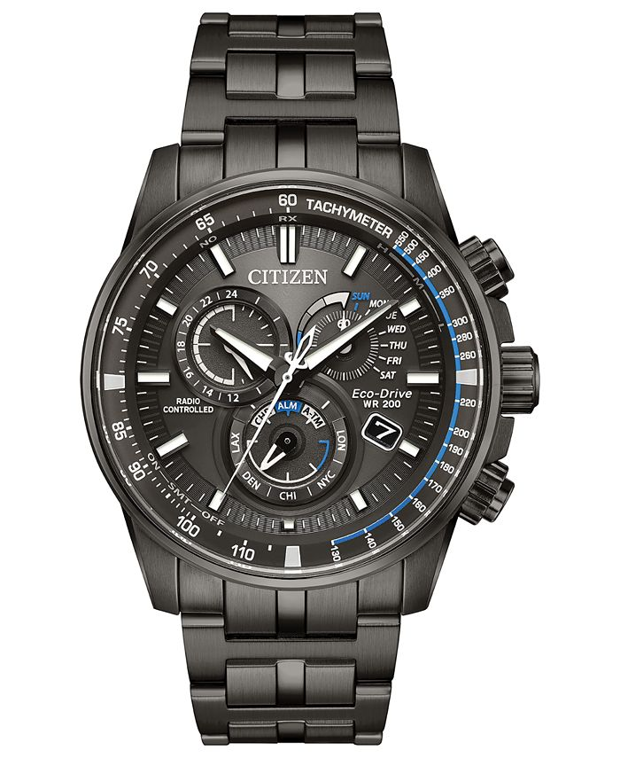 Citizen - Men's Chronograph Eco-Drive Perpetual Chrono A-T Gray Stainless Steel Bracelet Watch 43mm