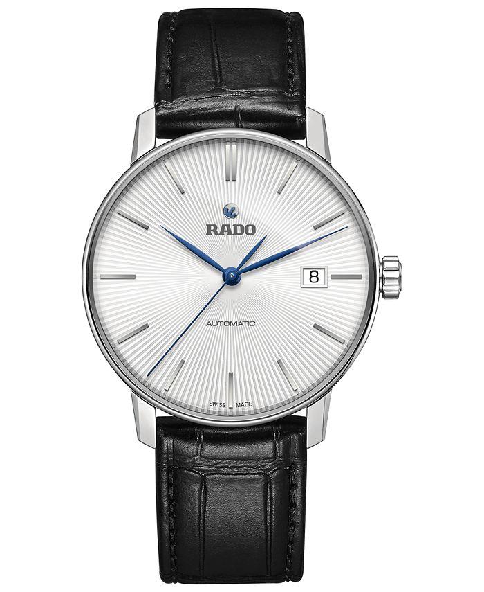 Rado - Men's Swiss Automatic Coupole Classic Black Leather Strap Watch 38mm