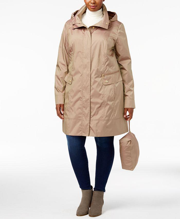 Cole Haan - Signature Plus Size Packable Unlined Raincoat
