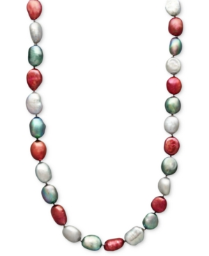 Fresh by Honora Pearl Necklace, Sterling Silver Multicolor Cultured Freshwater Pearl Strand (7-8 mm)