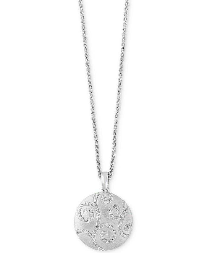 EFFY Collection - Diamond Disc Pendant Necklace (3/8 ct. t.w.) in Sterling Silver