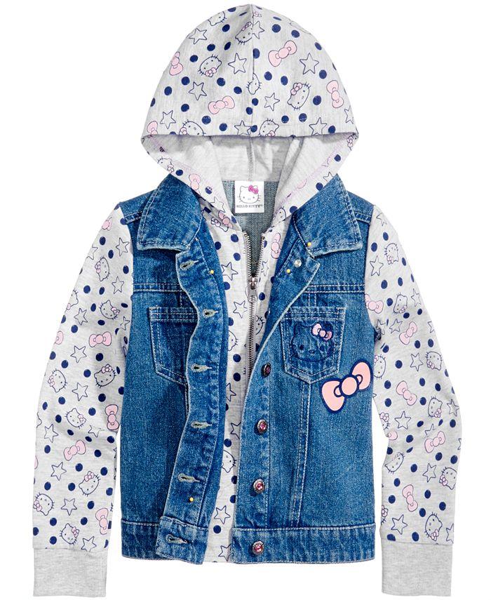 Hello Kitty - Denim Hooded Jacket, Toddler & Little Girls (2T-6X)