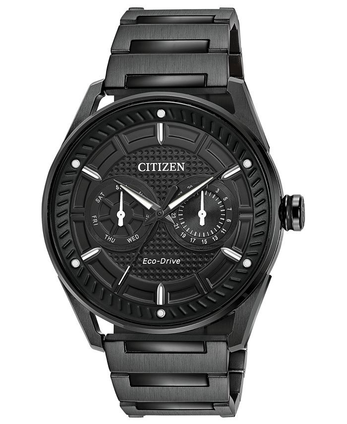 Citizen - Men's Black Stainless Steel Bracelet Watch 42mm