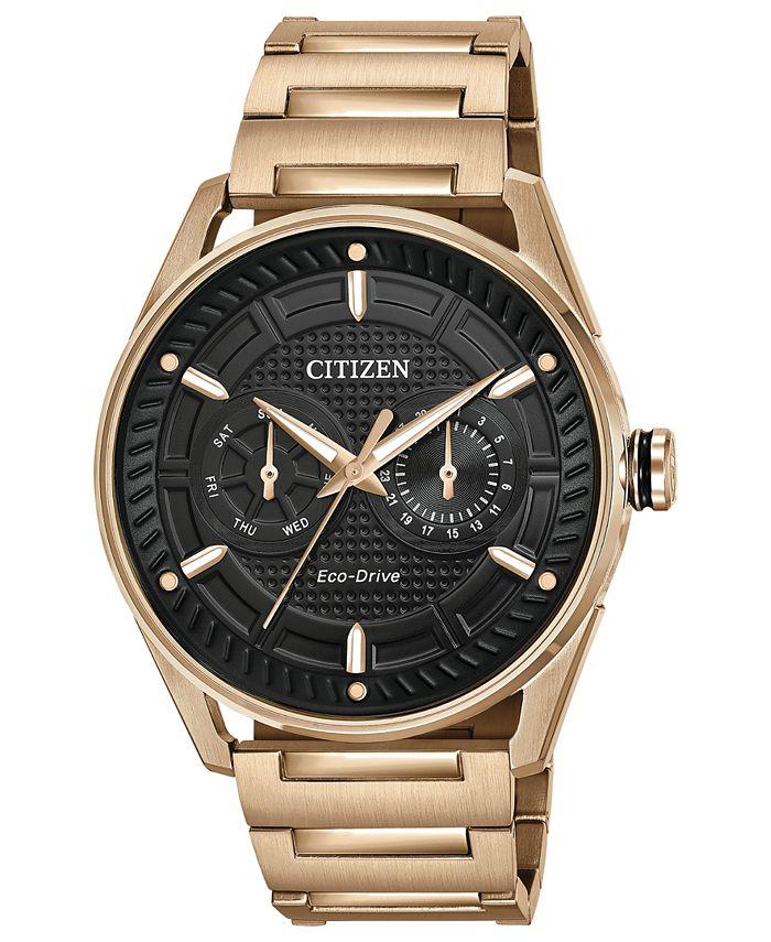 Citizen - Men's Rose Gold-Tone Stainless Steel Bracelet Watch 42mm