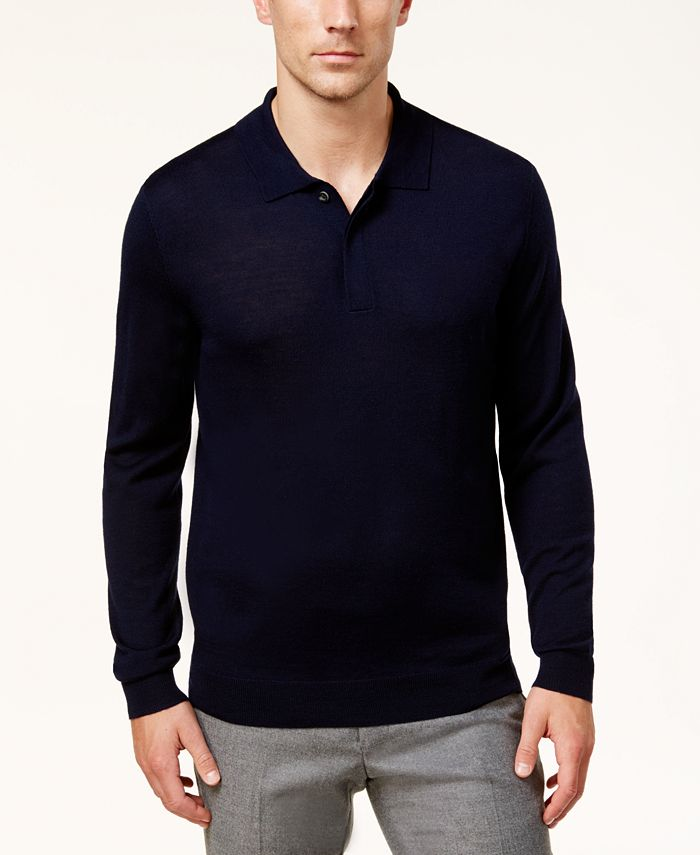 Club Room - Men's Regular-Fit Sweater-Knit Polo Shirt