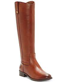 INC Fawne Wide-Calf Riding Leather Boots , Created for Macy's