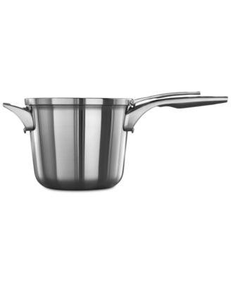 CLOSEOUT! Premier Space-Saving Stainless Steel 4.5-Qt. Saucepan & Lid