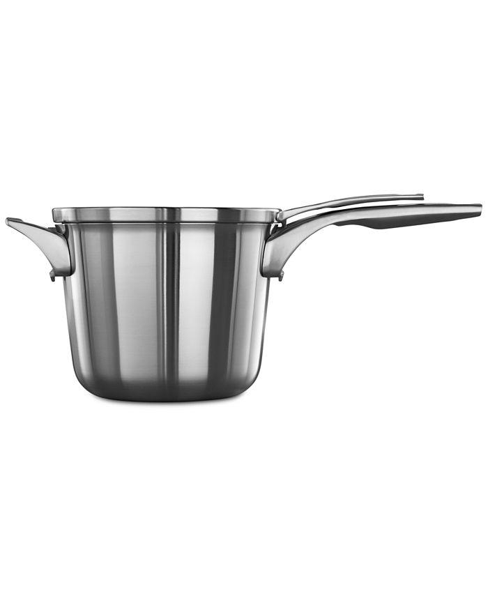 Calphalon - Premier Space-Saving Stainless Steel 4.5-Qt. Saucepan & Lid