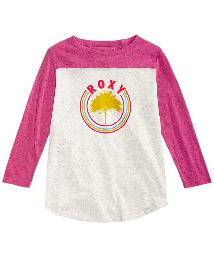 Roxy - Long-Sleeve Printed T-Shirt, Big Girls (7-16)